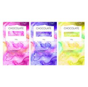 Speculative full wrap chocolate package design