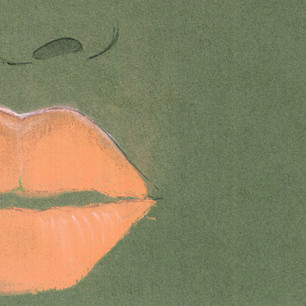 Make up/beauty editorial illustration.  Pastels on paper