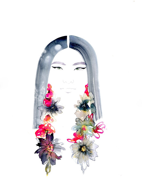 C Mixed Beauty Art Greeting Cards