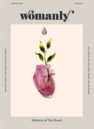 Re-imagined cover for Womanly magazine