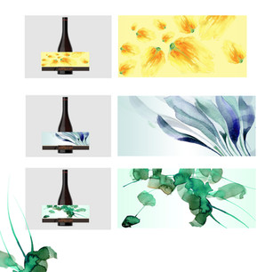 Speculative artwork created for wine labels to mirror the seasonal change in terroir