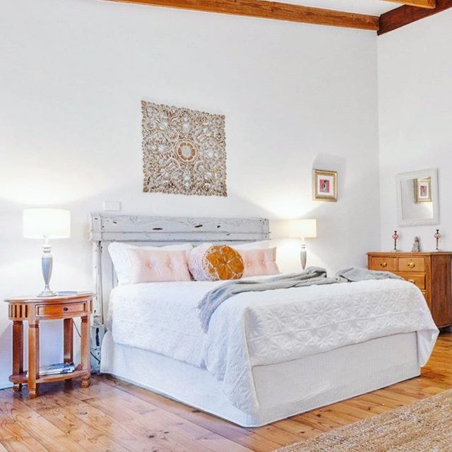 Traditionally feminine and masculine bed
