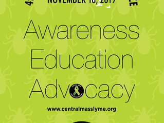 Central Mass Lyme Conference is next month!