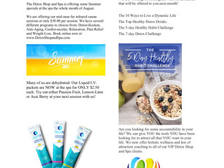 August News at the Detox Shop and Spa