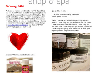 February News at the Detox Shop and Spa