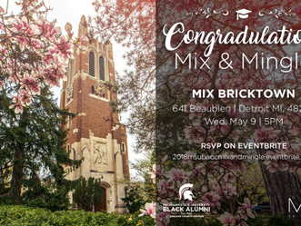 Join us at our 2018 ConGRADulations Mix and Mingle on Wednesday, May 9, 2018.