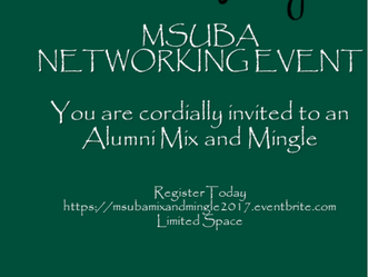 2017 Alumni Mix and Mingle Networking Event - Wednesday, May 10, 2017