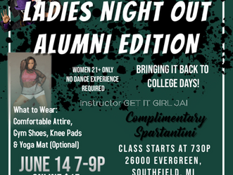 MSUBA & Get it Girl Fitness Twerk Cardio Ladies Night Out Alumni Edition - 6.14.19