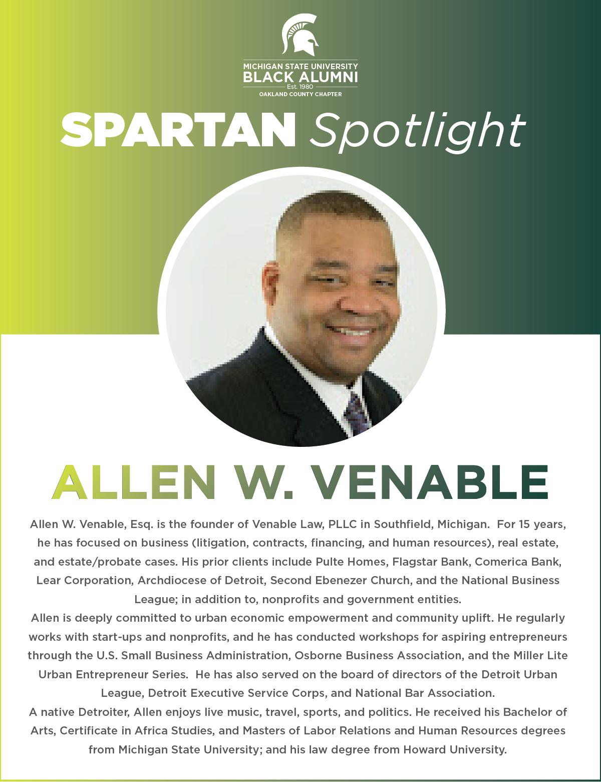 MSUBAOC Spartan Spotlight Allen W