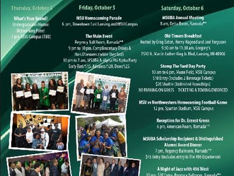MSUBA Homecoming Weekend - 10.4.18 - 10.7.18