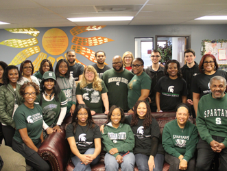 April 21, 2018 - MSUBA-OC serviced South Oakland Shelter for the 2018 MSU Day of Service