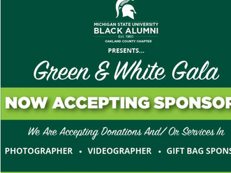 MSUBA OAKLAND COUNTY CHAPTER ARE STILL ACCEPTING SPONSORS!