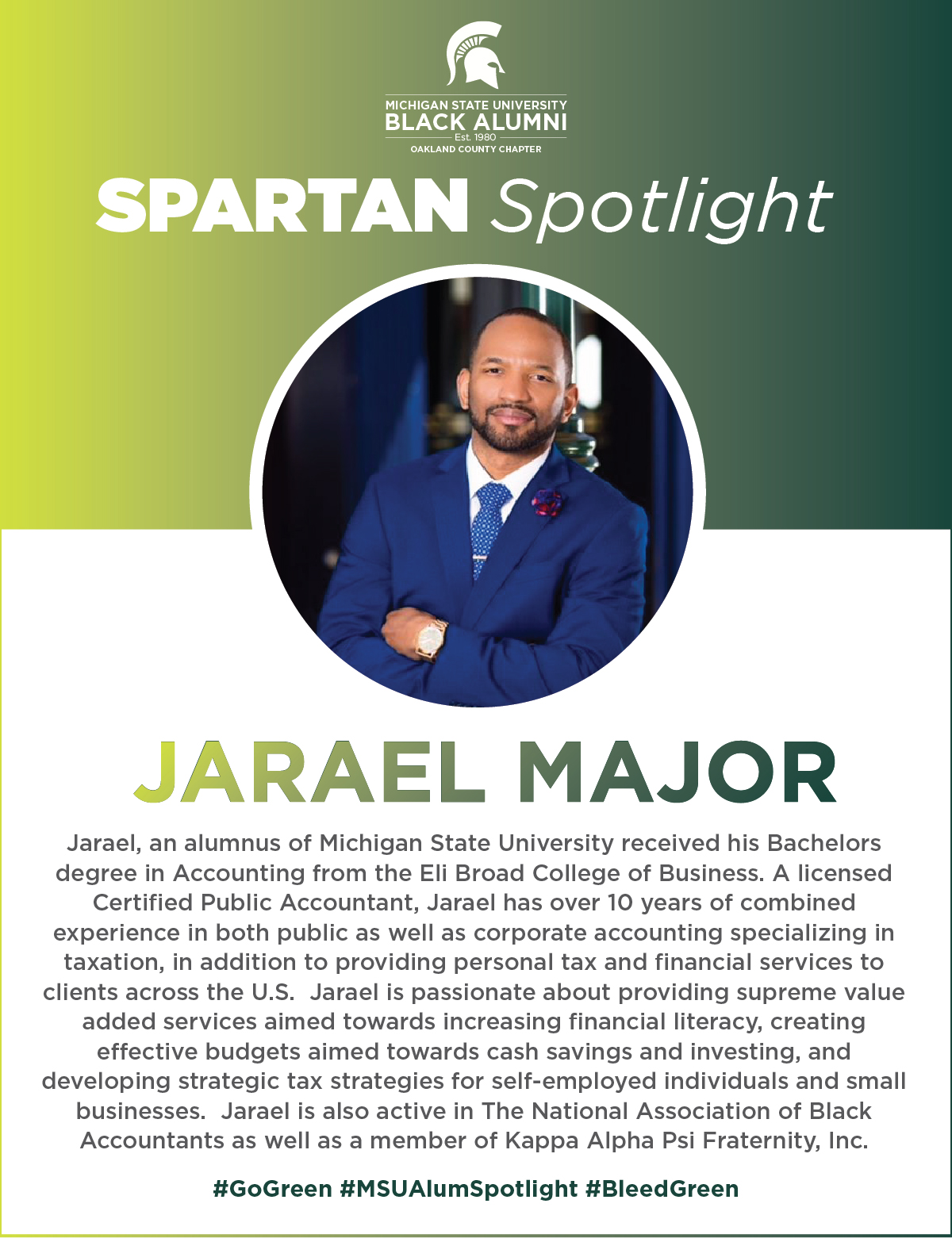 MSUBAOC Spartan Spotlight Jarael Major(I