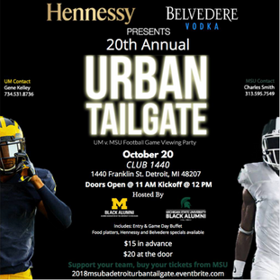 MSUBA 20th Annual Urban Tailgate in collaboration with MSUBA Detroit Chapter & UMBA - 10.20.18