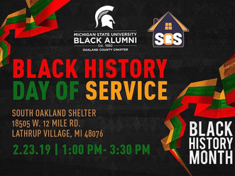 Black History Day of Service at South Oakland Shelter - 2.23.19