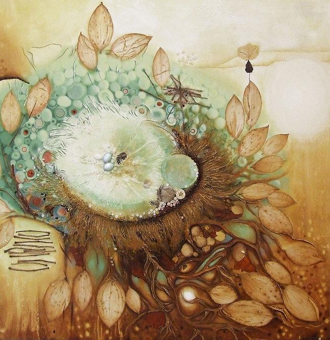 Le nid, oeuvre contemporaine, techniques mixtes