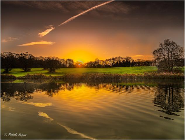 Sunrise at Corby Boating Lake Northamptonshire