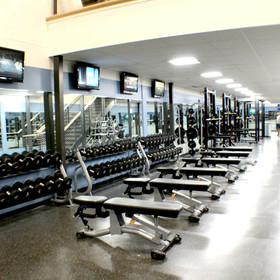 Free Weights in Weight Room (Pre COVID)