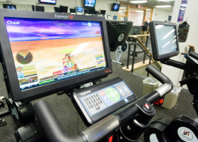 Stationary Bikes on Cardio Deck