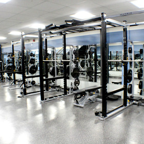 Squat Racks in Weight Room (Pre-COVID)