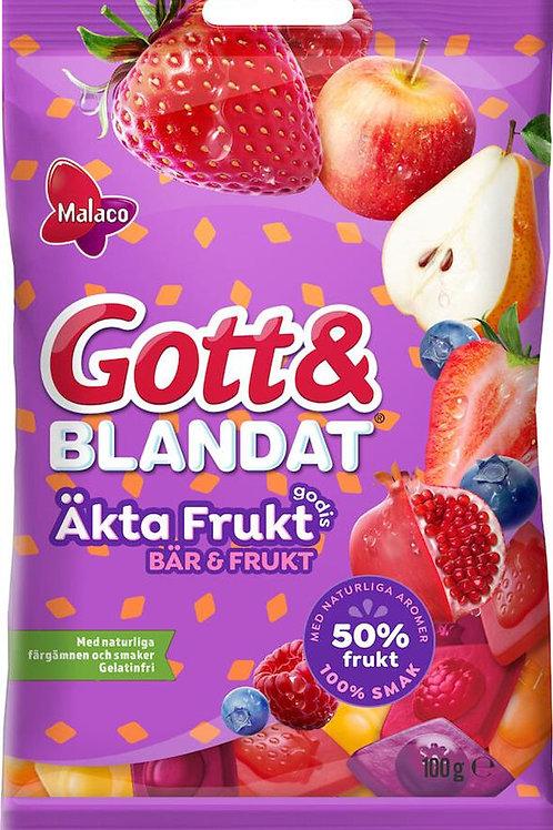 Gott & Blandat Äkta Frukt Bär&Frukt