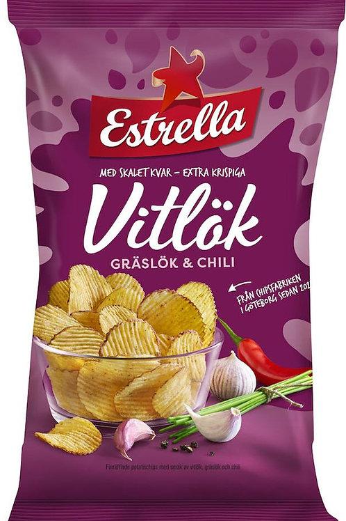 Chips Vitlök Gräslök Chili