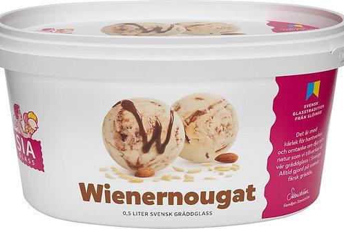 Wienernougat Gräddglass