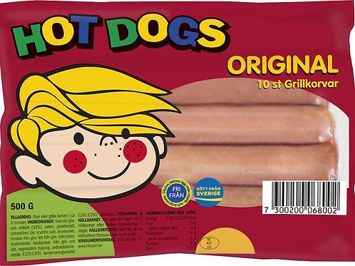 Hot dogs grillkorv