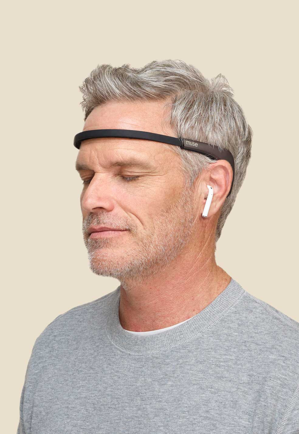 Muse Electroencephalogram - EEG. Used for biofeedback. In addition includes Heart Rate Monitor, Pulse Oximeter and Acceleromether together with a Photoplethysmogram for breathing analysis.