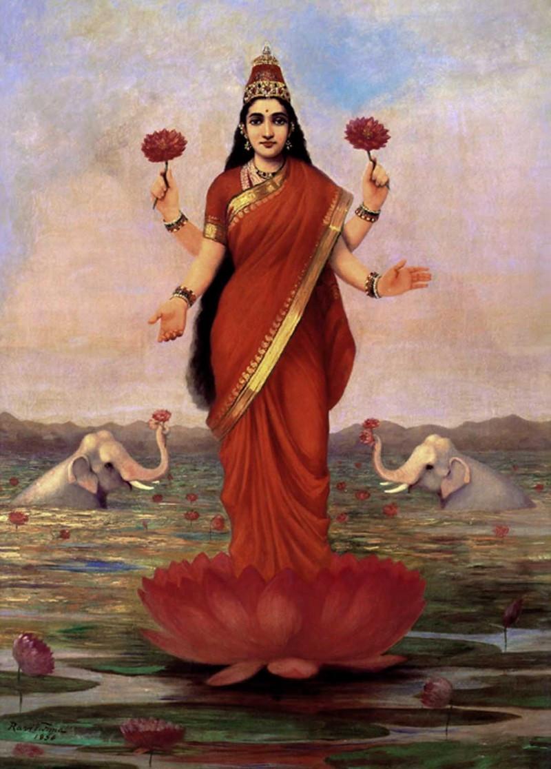 Goddess Lakshmi by Raja Ravi Varma.