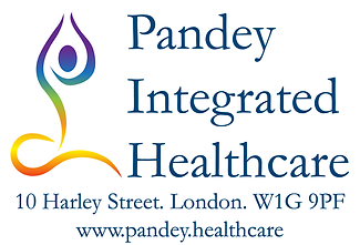 Vikas Pandey. Pandey Integrated Healthcare Logo. Address: 10 Harley Street. London. W1G 9PF. www.pandey.healthcare