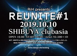 "TRANSIST  渋谷clubasia""Reunite#1 ""出演決定!"
