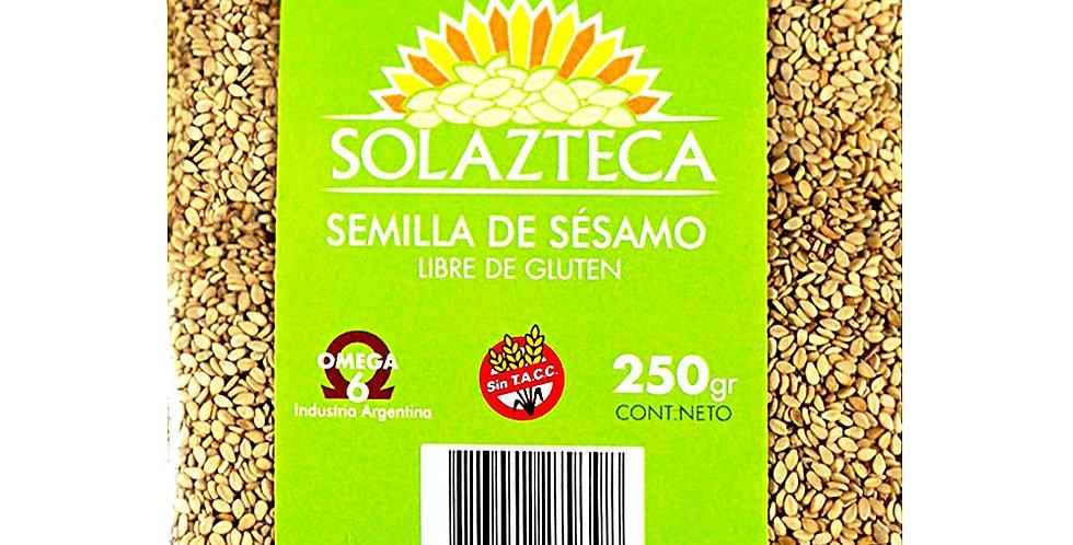 SEMILLAS SESAMO INTEGRAL 250 grs Sol Azteca