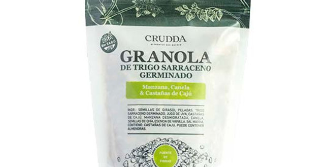 GRANOLA DE TRIGO SARRACENO GERMINADO, CRUDDA. 150 Gr
