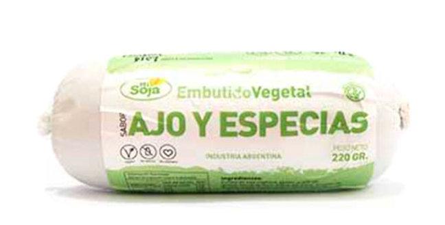 AJO Y ESPECIAS embutido vegetal Mi Soja x 220 grs
