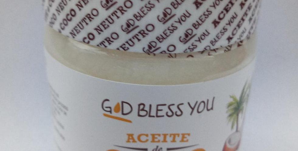 Aceite de Coco neutro 225ml GOD BLESS YOU
