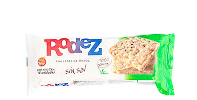 GALLETA DE ARROZ SIN SAL Rodez  x 75g