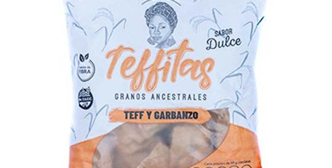 GALLETAS TEFFITAS DULCES de Teff y Garbanzo, 120 gr