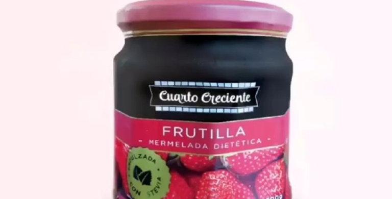 MERMELADA DE FRUTILLA C/STEVIA 300 gr CUARTO CRECIENTE