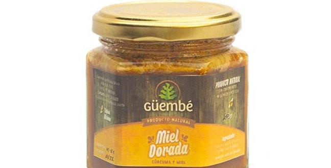 MIEL DORADA (miel c/cúrcuma) Güembé x 200grs