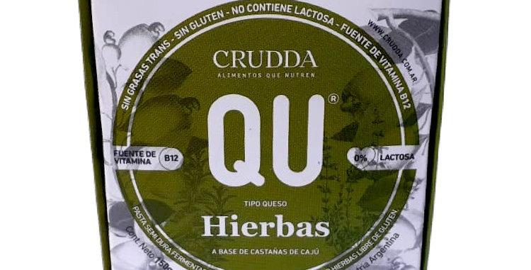 QUESO VEGANO ESTACIONADO C/HIERBAS, CRUDDA, 150 Gr