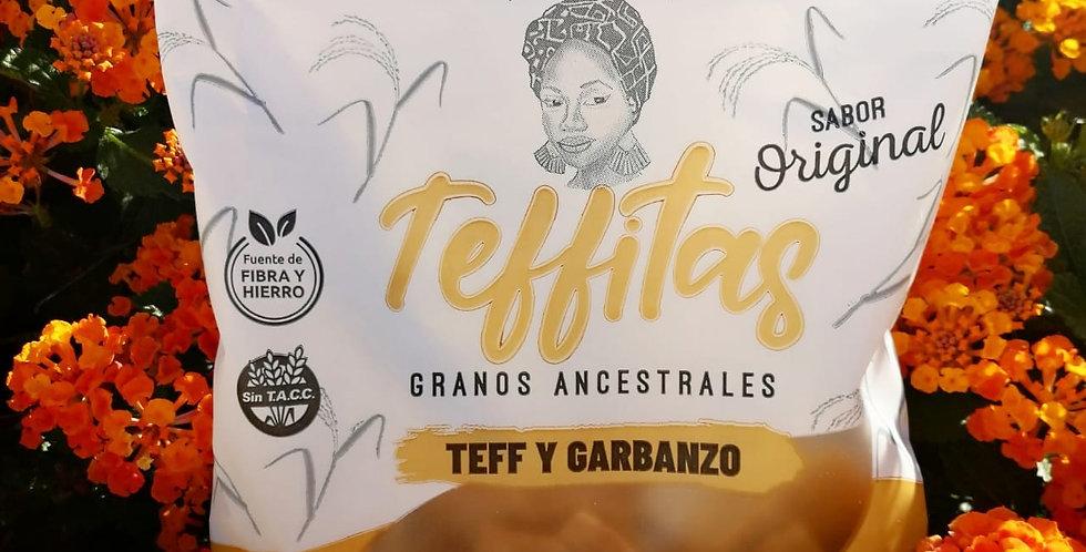 GALLETAS TEFFITAS de Teff y Garbanzo, 120 gr