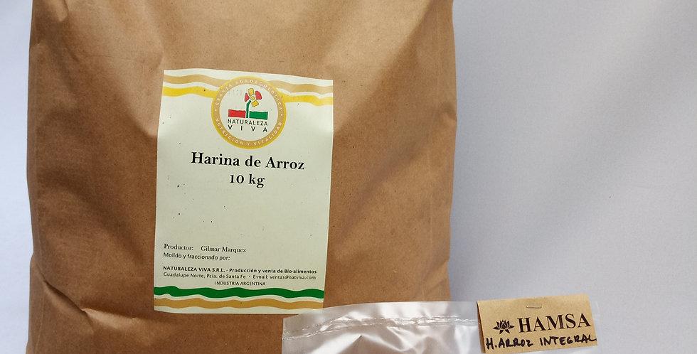 HARINA DE ARROZ integral orgánica x 500 grs.