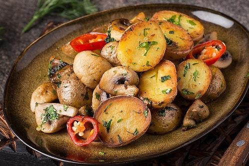 Картофель по-домашнему с шампиньонами (200гр.)