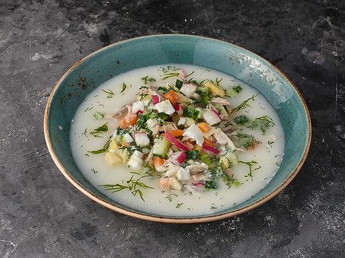 Холодный суп из Мацони с сальсой (250гр.)