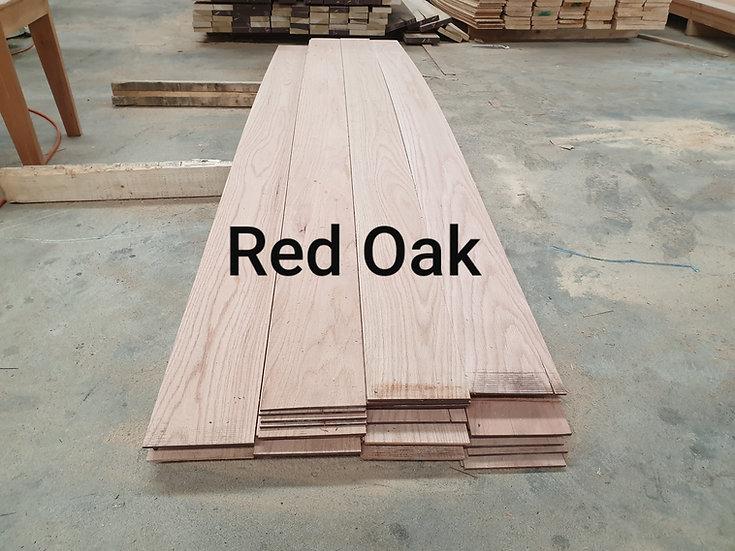 ไม้เรดโอ๊คแผ่นบาง (Red Oak 3mm. x14x 240cm.)
