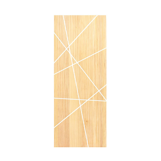 USA pine Door (Straight carving white)