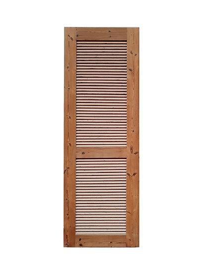 Thermowood Louver Door (ประตูไม้สนเทอร์โมวูด บานเกล็ด02)