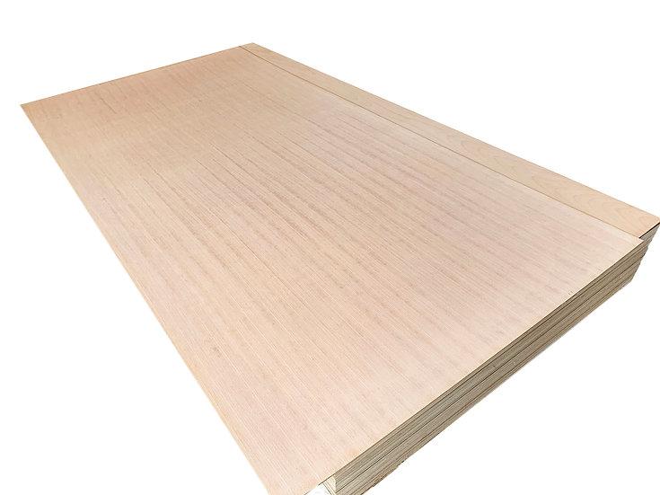 ไม้อัด บีชลายเส้นตรง 3.2mm x1.22x2.44m (Beech Plywood)