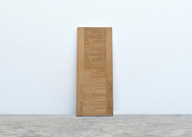 Teak Veneer Door (ประตูไม้สน ปิดผิวไม้สัก)
